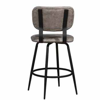 Counter Stool, Black, Back View