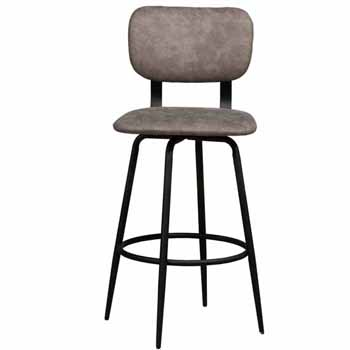 Bar Stool, Black, Front View