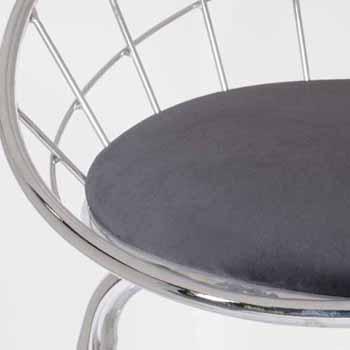 Silver Gray Seat Close-up