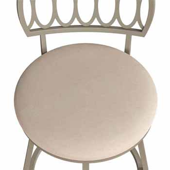 """Hillsdale Furniture Canal Street Geometric Circle Back Metal Adjustable Stool with Nested Legs, Champagne Gold , 17-1/2""""W x 18""""D x 34-1/2 to 38-1/2""""H"""