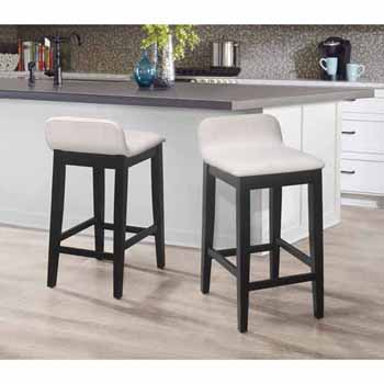 "Hillsdale Furniture Maydena Counter Height Stool, Black, 16-1/2""W x 18-1/4""D x 31-1/4""H"