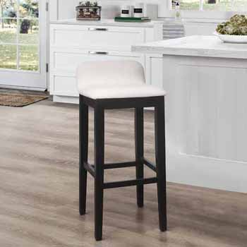 "Hillsdale Furniture Maydena Bar Height Stool, Black, 16-1/2""W x 18-3/4""D x 35-1/4""H"