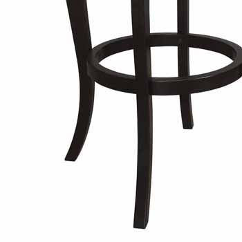 "Hillsdale Furniture Ellendale Swivel Bar Height Stool, Black , 17-1/2""W x 21""D x 44-1/2""H"