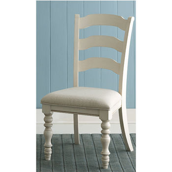 """Hillsdale Furniture Pine Island Ladder Back Side Chair, Set of 2, Old White & Ivory Finish, 20-5/8"""" W x 23-1/2"""" D x 40-1/4"""" H"""