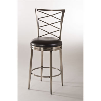 Harlow Swivel Counter Stool, Antique Pewter