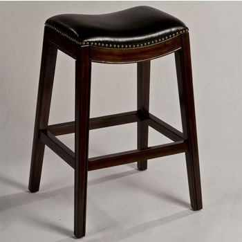 """Hillsdale Furniture Sorella Non-Swivel Backless Counter Stool, Espresso & Black Finish, 20-1/2"""" W x 16"""" D x 25-3/4"""" H"""