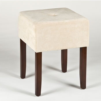 Hillsdale Furniture Bellamy Collection Backless Vanity Stool in Brown, 16-3/4'' W x 16-3/4'' D x 18'' H