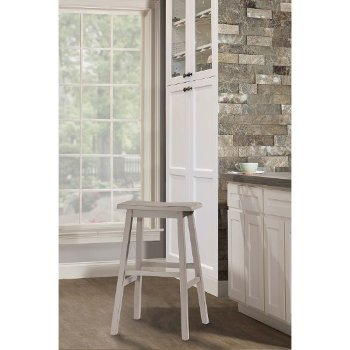 Counter Height Stool Distressed Gray