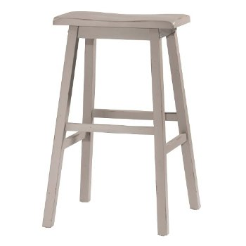 Bar Height Stool Distressed Gray