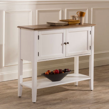 """Hillsdale Furniture Bayberry / Embassy Server in White, 42-1/4"""" W x 15-1/4"""" D x 37"""" H"""