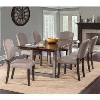 Hillsdale Furniture Emerson 7-Piece Rectangle Dining Table Set with Six (6) Chairs, Gray