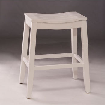 Hillsdale Furniture Fiddler Backless Non-Swivel Counter or Bar Stool in White