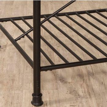Amazing Castille Metal Kitchen Island Textured Black With White Machost Co Dining Chair Design Ideas Machostcouk