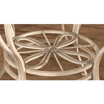 Hillsdale Furniture Napier Round Dining Table, Aged Ivory