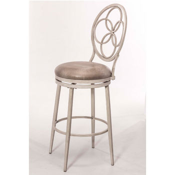 Hillsdale Furniture Donnelly Swivel Stool, Weathered Gray Frame with Granite Fabric Seat