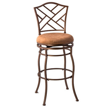 Hillsdale Hanover Swivel Counter Stool, Brown Powder Coat