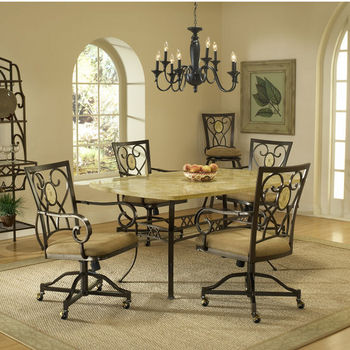 Tables Chairs Brookside Rectangle Dining Sets Ivory Colored Fossils