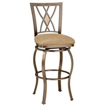 Hillsdale Furniture Brookside Diamond Fossil Back Counter or Bar Height Stool