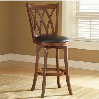 Hillsdale Furniture Mansfield Wood Swivel Counter or Bar Stool