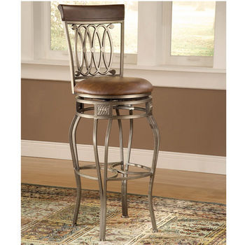 Hillsdale Montello Swivel Counter or Bar Height Stool