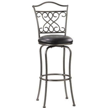 Hillsdale - Wayland Swivel Counter or Bar Height Stool, Pewter