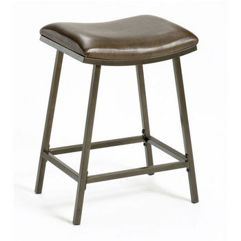 Hillsdale Furniture Saddle Counter/ Bar Stool with Nested Leg