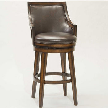 Hillsdale Lyman Swivel Stool, Rustic Oak