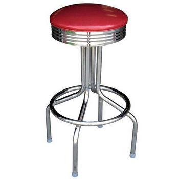 Richardson s Retro Steel Bar Counter Stool with Grade 4 Vinyl Upholstered Swivel Seat