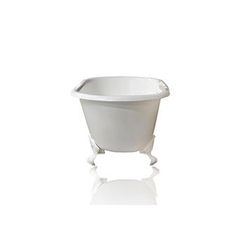 White Bathtub, Front View
