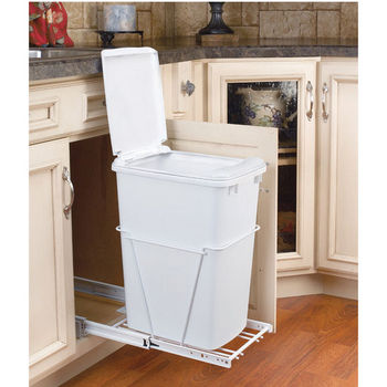 Pull-Out Waste Container with Lid