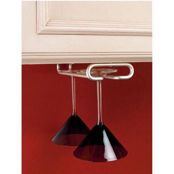 Rev-A-Shelf Wine Glass Stemware Racks for Shelf or Under Cabinet Mounting, Satin  Nickel, 11
