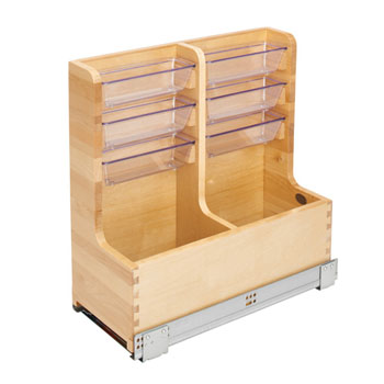 Rev-A-Shelf L-Shape Reversible Under Sink Pullout Organizer