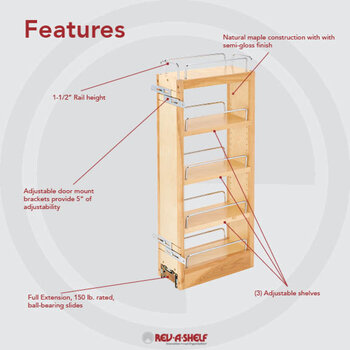 Pull-Out Shelves - Wood or Wire Construction Allows these Cabinet ...