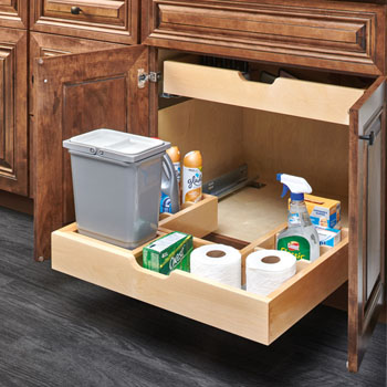 For Bathroom Vanity U Shape Under Sink Pullout Organizer With Blumotion Soft Close Slides By Rev A Shelf Kitchensource Com