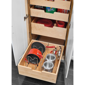 Kitchen Storage, Base Cabinet Pullout Pilaster Stackable