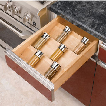 Rev-A-Shelf Wood Spice Kitchen Drawer Insert, Maple