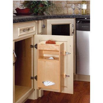 Door Mount Plastic Bag Holder for Sink Base