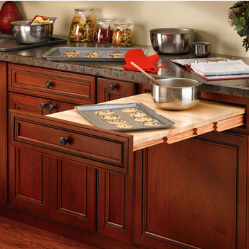Rev A Shelf Wood Pull Out Table For Kitchen Or Desk Cabinet Min Cab Opening 20 1 2 W X 19 15 16 D 4 H