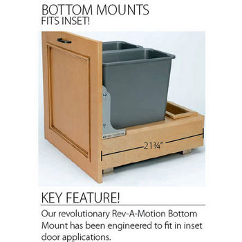Bottom mount fits inset