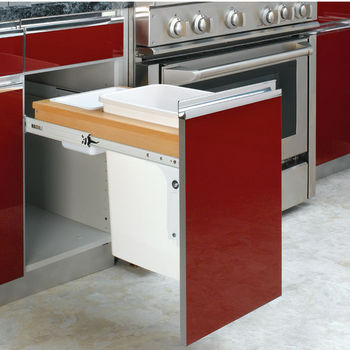 Rev-A-Shelf Top Mount Pull-Out Waste Bins for Frameless Cabinet