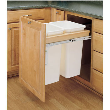 Rev-A-Shelf Double Pull-Out Waste Bins for Framed Cabinet