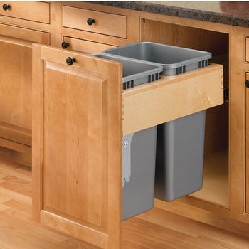 Double 50 Qt. Container Pull-Out
