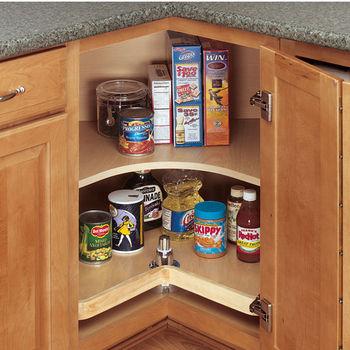 rev a shelf wood classic kidney shaped single shelf lazy. Black Bedroom Furniture Sets. Home Design Ideas