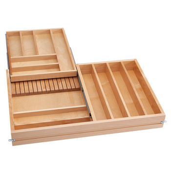Rev-A-Shelf Tiered Double Combination Drawer