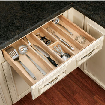 Rev A Shelf Wood Utensil Tray Drawer Inserts For Kitchen Or Vanity 24 W X 22 D X 2 3 8 Or 2 7 8 H