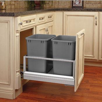Rev-A-Shelf Double Bin Door Mount Rev-A-Motion Waste Container