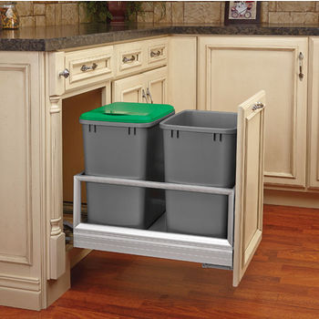 Rev-A-Shelf Double Bin Door Mount Rev-A-Motion Waste Container