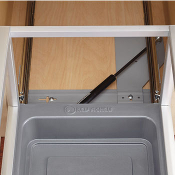 Rev-A-Shelf Single Bin Door Mount Rev-A-Motion Waste Container