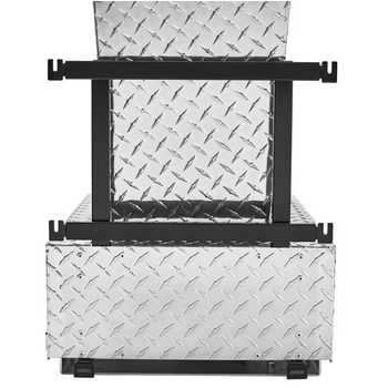 Rev-A-Shelf Single Monster Chassis with Soft-Close Assist for 74 Quart Waste Container (Not Included), Aluminum Diamond Plate