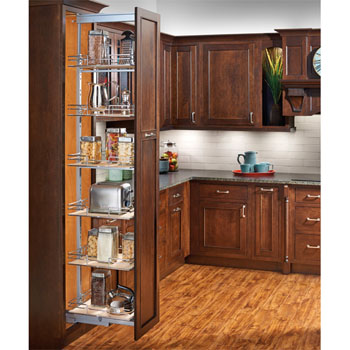 Rev-A-Shelf Soft-Close Pull-Out Pantry with Maple Shelves